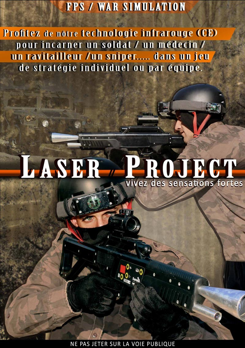 Offre 3h00 Paintball + Laser Project outdoor